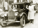 Female Taxi Driver in Syracuse  1925