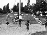 Children Playing at a Playground  1936
