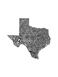 Typographic Texas Reproduction d'art par CAPow