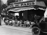 Sidewalk Cafe in Tangier  1934