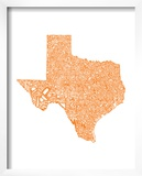Typographic Texas Orange