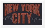 New York City Boroughs (orange on navy)