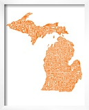 Typographic Michigan Orange