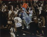 Madison Hedgecock/ Tom Coughlin Dual Signed Gatorade Celebration Sepia Tone