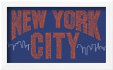 New York City Boroughs (orange on blue)