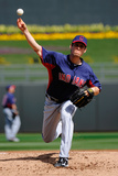 Surprise  AZ - March 11: Cleveland Indians v Texas Rangers - Kevin Slowey