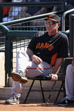 Surprise  AZ - March 12: San Francisco Giants v Kansas City Royals - Jason Kendall