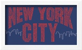 New York City Boroughs (red on blue)