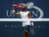 James Blake US Open Fist Pump Signed