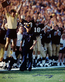 Lou Holtz Walking Down Sideline w/ Team Celebration Ken Regan graph