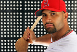 Tempe  AZ - February 29: Los Angeles Angels Photo Day - Albert Pujols