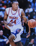 "John Wallace Syracuse Action w/ ""Go Orange"" Inscription Autographed Photo (Hand Signed Collectable)"