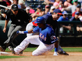 Surprise  AZ - March 11: Cleveland Indians v Texas Rangers - Josh hamilton  Julio Borbon