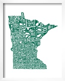Typographic Minnesota Green