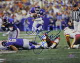 "Joe Morris Leap Thru Middle Horizontal w/ ""NY Giants"" Inscription"