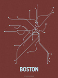 Boston (Maroon &amp; Pale Blue)