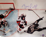 Brett Hull Dallas Stars Game Winning Goal Overhead Autographed Photo (Hand Signed Collectable)