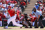 Tempe  AZ - March 10: San Francisco Giants v Los Angeles Angels of Anaheim - Erick Aybar