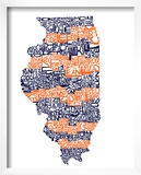 Typographic Illinois Illini