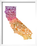 Typographic California Warm