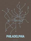 Philadelphie Sérigraphie par LinePosters