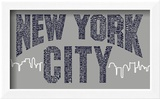 New York City Boroughs (navy on grey)