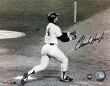 Charlie Hough Los Angeles Dodgers Reggie Jackson Home Run Autographed Photo (H& Signed Collectable)