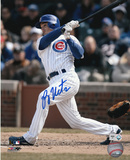 Ryan Theriot Chicago Cubs - Batting Autographed Photo (Hand Signed Collectable)