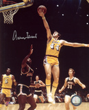 Jerry West Los Angeles Lakers vs Milwaukee Bucks Autographed Photo (Hand Signed Collectable)