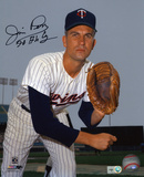 Jim Perry Minnesota Twins with 70 AL CY Inscription Autographed Photo (Hand Signed Collectable)