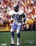 Lem Barney Detroit Lions Action with HOF 92 Inscription