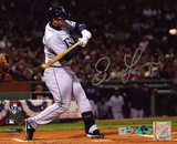 Evan Longoria Tampa Bay Rays - Batting Autographed Photo (Hand Signed Collectable)