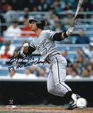 Scott Fletcher White Sox with 83 AL West Champs Inscription