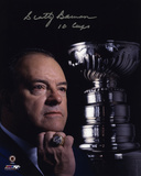 Scotty Bowman -10 Stanley Cups- Autographed Photo (Hand Signed Collectable)