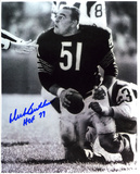 Dick Butkus Chicago Bears -Rookie- with HOF 79 Inscription