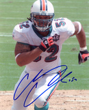 Channing Crowder Miami Dolphins Autographed Photo (Hand Signed Collectable)