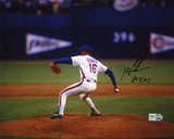 "Dwight ""Doc"" Gooden New York Mets Pitching with 84 ROY Autographed Photo (Hand Signed Collectable)"