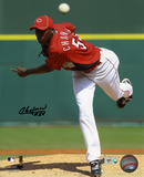 Aroldis Chapman Cincinnati Reds Autographed Photo (Hand Signed Collectable)