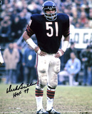 Dick Butkus Chicago Bears -Hands on Hips- with HOF 79 Inscription