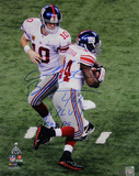 "Ahmad Bradshaw Signed Super Bowl XLVI Handoff Verticalw/ ""SB XLVI Champs"" Inscription"