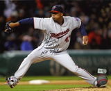 Francisco Liriano Minnesota Twins with NH 5-3-11  Autographed Photo (Hand Signed Collectable)