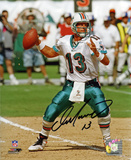 Dan Marino Miami Dolphins - Passing Autographed Photo (Hand Signed Collectable)
