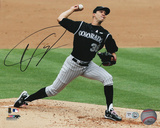 Ubaldo Jimenez Colorado Rockies Autographed Photo (Hand Signed Collectable)
