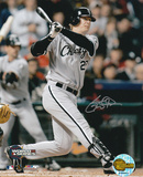 Geoff Blum White Sox 2005 WS Game 3 Winning Home Run Autographed Photo (Hand Signed Collectable)