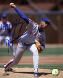 Dwight &quot;Doc&quot; Gooden New York Mets Pitching with Happy Holidays Inscription