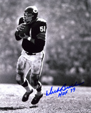 Dick Butkus Chicago Bears -Intercepting- with HOF 79  Autographed Photo (Hand Signed Collectable)
