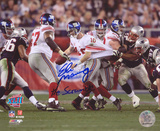 Eli Manning New York Giants SB XLII Scramble The Scramble Autographed Photo (H& Signed Collectable)