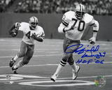 Rayfield Wright Dallas Cowboys with HOF Inscription Autographed Photo (Hand Signed Collectable)