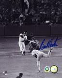 Burt Hooten LA Dodgers Reggie Jackson Home Run Autographed Photo (Hand Signed Collectable)