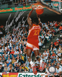 Dominique Wilkins Atlanta Hawks Dunk Contest Autographed Photo (Hand Signed Collectable)